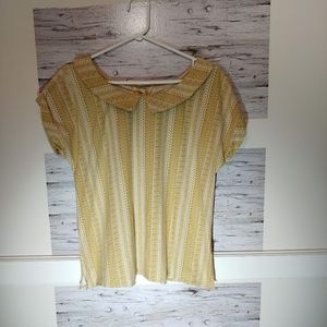 Anthropologie Comme Toi Large Short Sleeve Blouse
